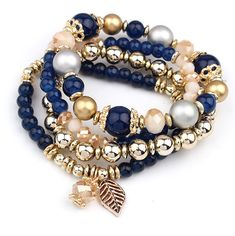 4pcs/set Brand Designer Fashion Multilayer Crystal Beads Leaves Tassel Bracelets & Bangles Pulseras Mujer Jewelry for Women Gift-in Charm Bracelets from Jewelry & Accessories on Aliexpress.com   Alibaba Group