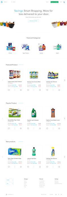 Savingo eCommerce Homepage Design Concept
