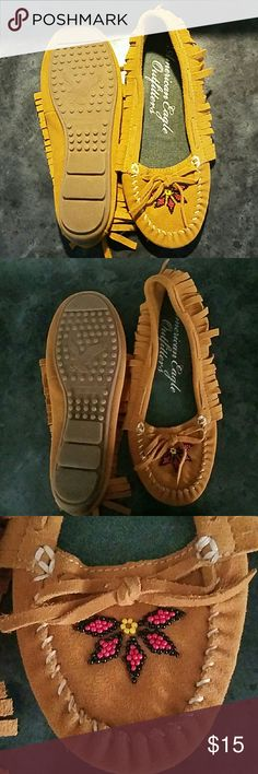 American Eagle shoes Fringed with design  new with out tags, very cute American Eagle Outfitters Shoes Flats & Loafers