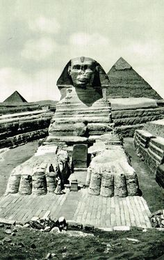 The Great Sphinx of Giza, The Pyramids of Chefren and Mykerinos by Lehnert & Landrock