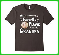 Mens Baseball Softball T-Shirt Favorite Player Calls Me Grandpa XL Asphalt - Sports shirts (*Amazon Partner-Link)