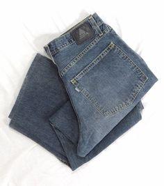 Levi's SilverTab Jeans 34 x 30 Retired Big Baggy Blue Vintage Cotton Denim Pants #Levis #BaggyLoose
