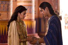Sibylla Deen as Ankhesenamun and Avan Jogia as Tutankhamun in Tut.