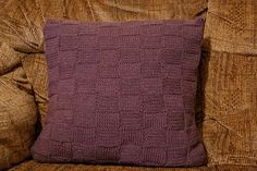 Em's Knits: Waffly weavy good cushion cover