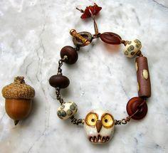 hooty bracelet  . . . by marthasrubyacorn on Etsy