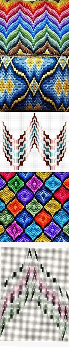 Discover thousands of images about bargello ribbons Bargello Patterns, Bargello Needlepoint, Bargello Quilts, Needlepoint Stitches, Plastic Canvas Stitches, Plastic Canvas Crafts, Plastic Canvas Patterns, Cross Stitching, Cross Stitch Embroidery
