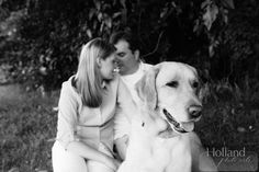 Engagement Session with dog, Alexandria, Virginia #Engagement, Kaitlyn & Mark with Wyatt, Image by Holland Photo Arts