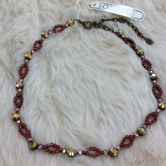 Sorrelli NWT necklace Sorrelli necklace featuring red and gold stones.  Hot!  NBT6AGKSF Sorrelli Jewelry Necklaces