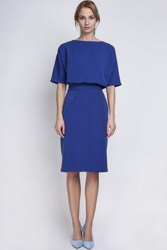 Look what I found on Indigo Blouson Dress Crepe Dress, Ruffle Dress, Knit Dress, Ruffles, Fitted Midi Dress, Sheath Dress, Bodycon Dress, Office Dresses, Dress Cuts