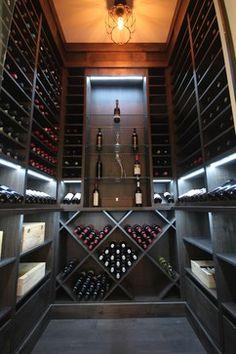 Kitchen Cellar modern wine cellar
