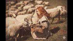 Photograph La Prairie de Laine by Sophie Narses on Story Inspiration, Character Inspiration, Farm Women, Sheep And Lamb, Illustrations, Fantasy Characters, Beauty And The Beast, Fairy Tales, Drawings