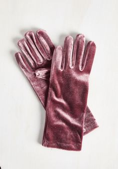 Class from the Past Gloves in Mauve - Velvet, Pink, Solid, Special Occasion, Holiday, Vintage Inspired, 40s, 50s, Fall, Winter