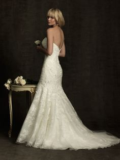 Allure Bridals : Allure Collection : Style 8913 : Available colours : White/Silver, Ivory/Silver (back)