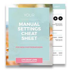 Manual Settings Cheat Sheet