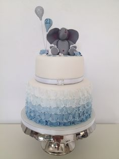 Ombré Elephant Cake