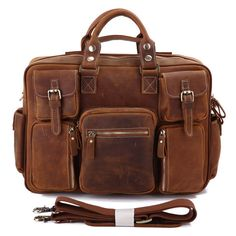 Crazy Horse Leather Business Travel Bag