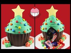 Chocolate Christmas Tree PINATA! No Bake Xmas Dessert Recipe - Learn how to make these delicious treats, and heaps more at Mycupcakeaddiction!