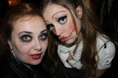 creepy doll and lady vampire