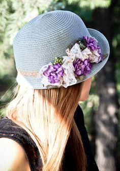 Summer hats women  Green sun  straw hat with by dantiehandmade