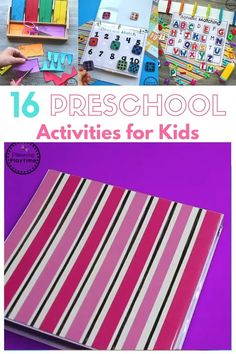 Preschool Activities Skills Binder - Grab and Go Preschool Math, Alphabet, Counting, Shapes, and more.