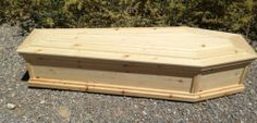 """Old West Style Pine Box """"Toe Pincher"""" Funeral Coffin Burial Casket halloween casket Reclaimed Wood Side Table, Funeral Caskets, Box Building, Got Wood, Halloween Party Decor, Halloween Ideas, Wooden Projects, Woodworking Projects Plans, Old West"""