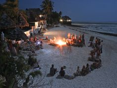 Beach fire in front of KiteWorldWide Lodge Zanzibar..     Learn kitesurfing in one of the most awesome places on this planet..   http://www.kiteworldwide.com/destinations-tours/zanzibar/
