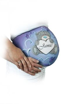 me to you bellypainting geboortekaartje Pregnancy Belly, Baby Belly, Bump Painting, Pregnant Belly Painting, Spirit Photography, Belly Art, Belly Bump, Blue Nose Friends, Plaster Art