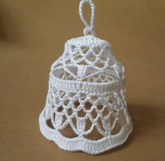 PHOTO ONLY ~ MAY PURCHASE ITEM ~ christmas bell crochet christmas bell lace bell by JewelrySpace, $5.00