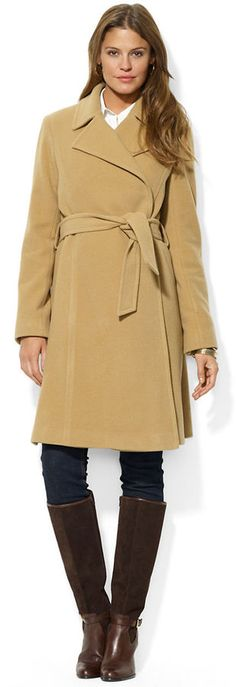 Camel Coat by Ralph Lauren. Buy for $340 from Lord & Taylor