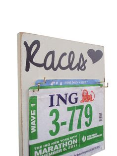 A Race Bibs Holder that adds Style to your by runningonthewall, $26.00