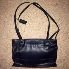 NWOT Coach Leather Purse Black Coach Leather Purse- 100% Authentic- Never been used!!! NWOT. NO TRADES ON THIS ITEM! Coach Bags Shoulder Bags