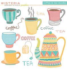 Coffee & Tea Doodles- colour combo office