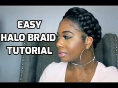 How To Do a halo/crown braid - YouTube