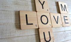 Scrabble para decorar en madera maciza.