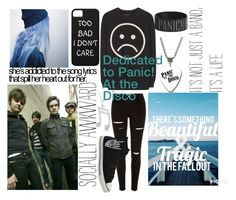 """""""Panic! At the Disco"""" by softballnumber4 ❤ liked on Polyvore featuring Marc by Marc Jacobs, River Island, Allurez and Converse"""
