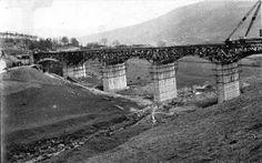 Ashopton viaduct under construction Lost Village, Derbyshire, Under Construction, Sheffield, See Photo, Archaeology, Playground, Vintage Photos, Claire