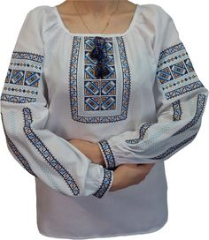 Вишиванка, жіноча вишивана блузка на домотканому полотні (Арт. 01749) Ukraine, Costumes, Blouse, Long Sleeve, Womens Fashion, Sleeves, Outfits, Tops, Traditional