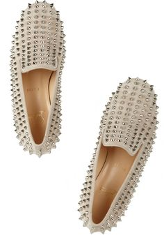 Christian Louboutin | Rolling Spikes studded suede slippers £765