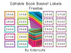 Enjoy these fun labels to use to organize your classroom AR or leveled library. I created them in a color scheme that coordinates with many popular book bin colors.Just backspace away my text, type in what you like, print them on cardstock and laminate them to last.