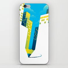 Draw The Future iphone skin. Art by www.tangyauhoong.com