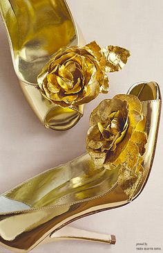 Freya Rose Collection ♔THD♔ Gold Pumps