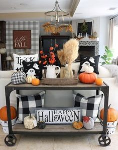 DIY Indoor Halloween Decor Ideas to Welcome Spooky Vibes in your Home - Hike n Dip Looking for DIY Indoor Halloween Decor Ideas? Here you'll find some of the Best & incredibly unique Halloween Indoor Decoration Ideas. Check them out now. Halloween Living Room, Casa Halloween, Halloween Party, Halloween Entryway, Halloween Kitchen Decor, Halloween Halloween, Halloween Season, Halloween Cookies, Living Room Ideas For Fall