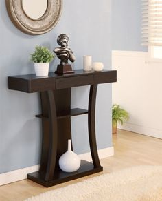 Furniture Of America Malenzo Podium Inspired Coffee Table Cappuccino Based in California, Furniture of America has spent more than 20 years establishi. Entryway Furniture, Home Decor Furniture, Entryway Decor, Home Furnishings, Entryway Tables, Diy Home Decor, Furniture Design, Wall Decor, Furniture Removal