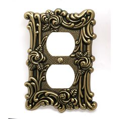 amerelle provinicial 1 duplex wall plate antique gold