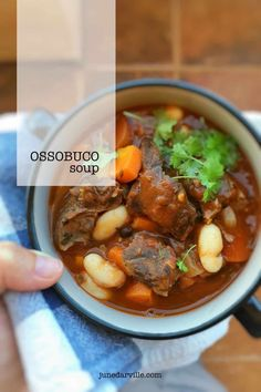 Leftover ossobuco stew in the fridge? Make this heartwarming leftover ossobuco soup and enjoy this veal classic twice!
