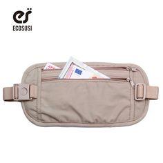 Ecosusiウエストバッグ高品質トラベルウエストポーチベルトマネー財布バッグパスポートホルダー変更安全ストラップ