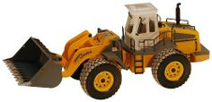 Hobby Engine Remote Control Wheeled Loader by Hobby Engine. $106.99. From the Manufacturer                Wheeled Loader with working headlights and rear lights, Ready to dig. Frequency 27.145 MHz, Weathered finish, Operating arm moves up and down, lifting and loading function, left and right steering, forward and backward action. Includes 9V battery, 4.8v 800mAh battery, charger and Transmitter. Product size 550 x 220 x 295mm (21.65 x .66 x 11.61 in.)                      ...