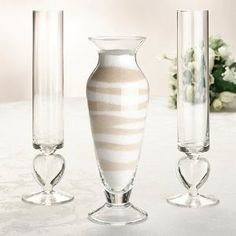 Different beach sands in a vase