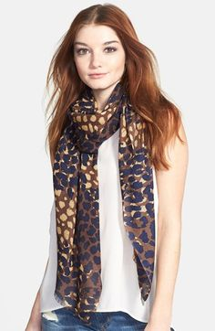Tory Burch 'Mixed Ocelot' Print Scarf available at #Nordstrom