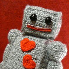 cute crocheted robot
